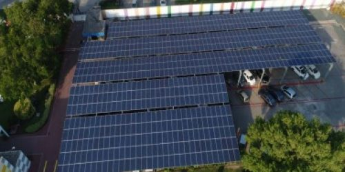 Solar Panel Roof – Car Parking Shed at Akzonobal Lahore