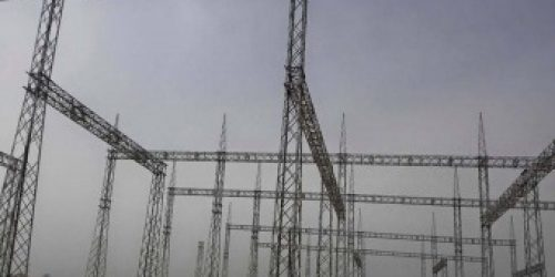 Switchyard Gantry Steel Structure View -500kV New Lahore Substation